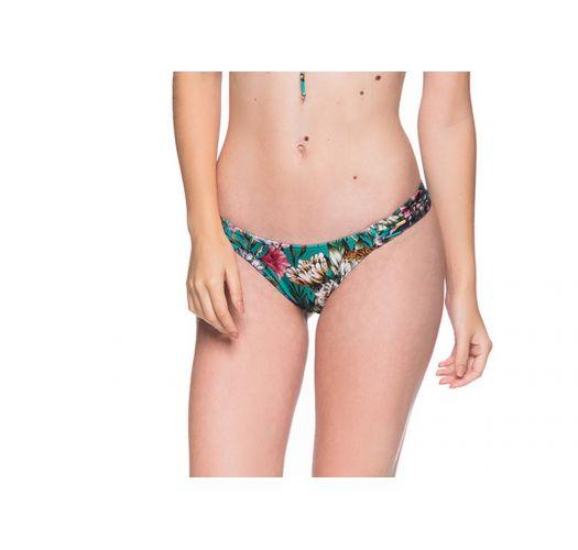 Green floral bikini bottom - BOTTOM BOLHA TROPICAL GARDEN