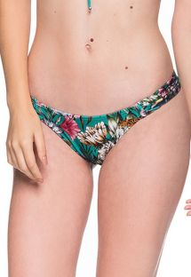 Green floral bikini bottom - BOTTOM BOLHA TROPICAL GARDEN