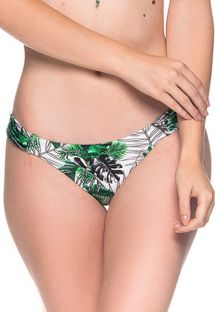 Green leaves bikini bottom - BOTTOM BOLHA VIUVINHA