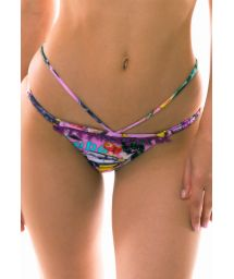Colorful bikini bottom with an extra strap - BOTTOM BORA-BORA
