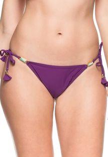 Plum color scrunch bikini bottom - BOTTOM CANTO DA ILHA