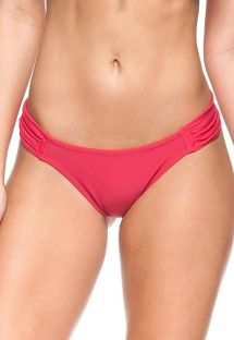 Red pleated fixed bikini bottom - BOTTOM CEREJEIRA