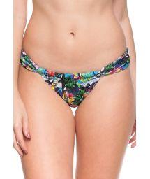 Sliding Brazilian bikini bottom - Cuba print - BOTTOM CORAIS DE AQUARIO