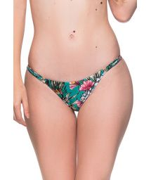Green floral slim sides adjustable bikini bottom - BOTTOM CORTINAO TROPICAL GARDEN