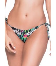 Multicolored floral side-tie bikini bottom - BOTTOM CORTININHA ATALAIA
