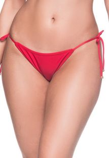 Red side-tie bikini bottom - BOTTOM CORTININHA MULUNGU