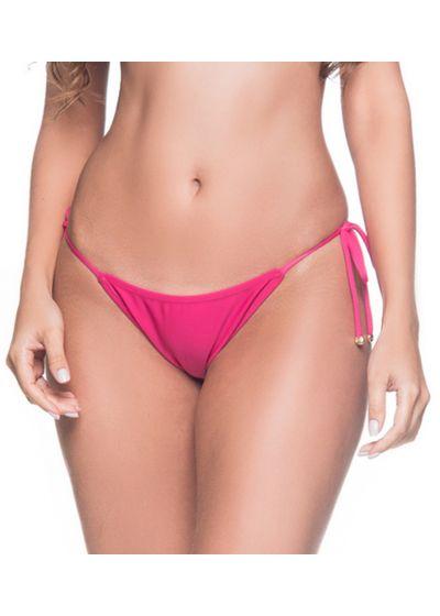 Pink side-tie bikini bottom - BOTTOM CORTININHA TROPICALIA
