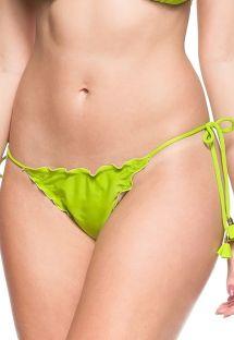 Limegrønne brasilianske scrunch bikinitrusser med bølgede kanter - BOTTOM CRISTO REDENTOR