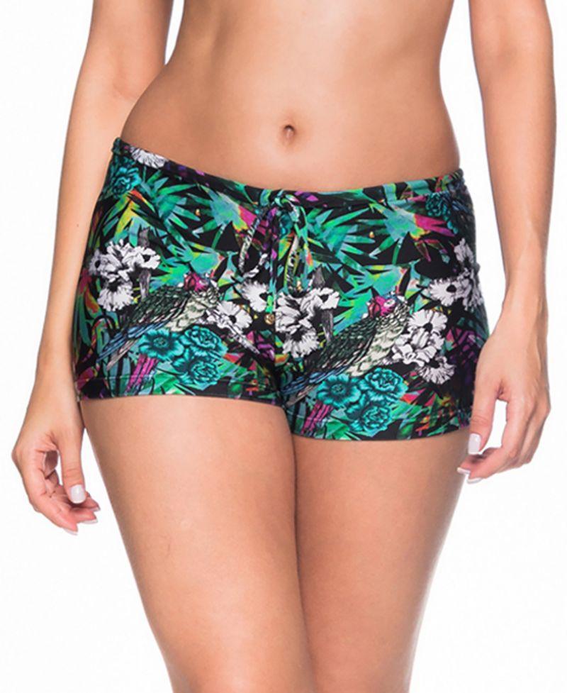 Buntgeblümte Bikini-Shorts - BOTTOM CRUZADO ATALAIA