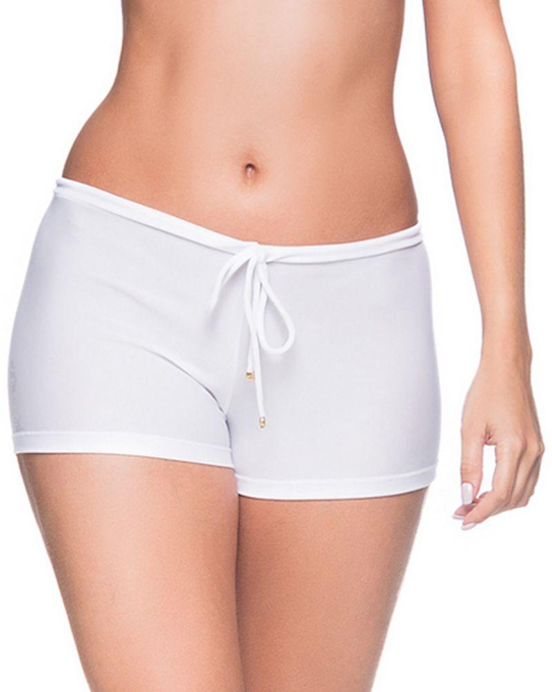Bikini shorts - solid white - BOTTOM CRUZADO BRANCO