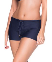 Navy blue shorty bikini bottom - BOTTOM CRUZADO MIRAMAR