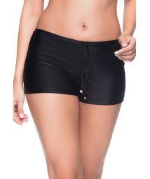 Black shorty bikini bottom - BOTTOM CRUZADO PRETO