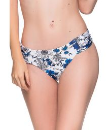 Floral blue & white Brazilian bottom with pleated sides - BOTTOM DRAPE ATOBA