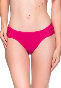 Pink larger side bikini bottom - BOTTOM DRAPE TROPICALIA
