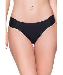 Black tab side bikini bottom - BOTTOM DRAPEADA PRETO