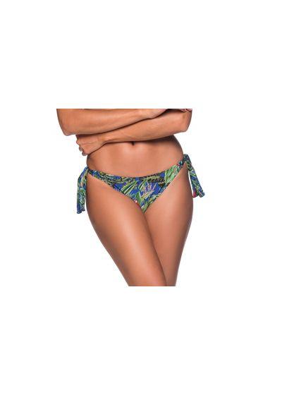 Tropisch bunte geknotete Bikinihose - BOTTOM FAIXA ARARA AZUL