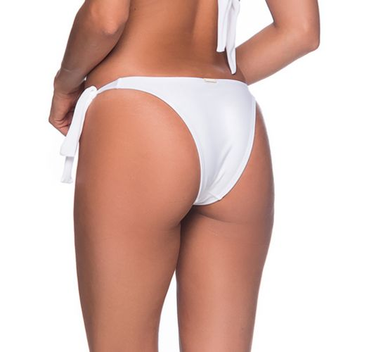 Бразильские трусики бикини белого цвета на завязках - BOTTOM FAIXA BRANCO