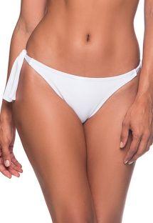 Weiße seitlich geknotete Bikinihose - BOTTOM FAIXA BRANCO