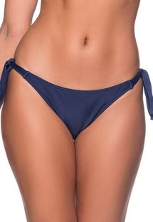 Navy blue side-tie bikini bottom - BOTTOM FAIXA MIRAMAR