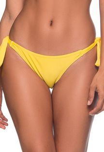 Yellow side-tie bikini bottom - BOTTOM FAIXA PAELLA