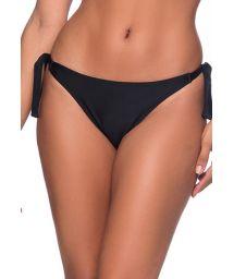 Black side-tie bikini bottom - BOTTOM FAIXA PRETO