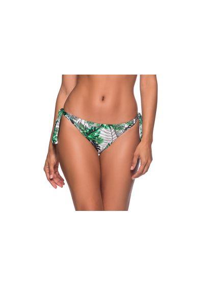 Brasiliansk nederdel med knytband och grönt bladmönster - BOTTOM FAIXA VIUVINHA