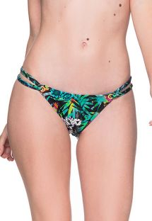 Colorful floral double side Brazilian bikini bottom - BOTTOM FIXO ATALAIA