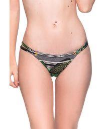 Tropical green double side Brazilian bikini bottom - BOTTOM FIXO BOTANICAL
