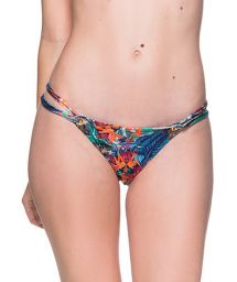 Tropical print double side Brazilian bikini bottom - BOTTOM FIXO NORONHA FLORAL