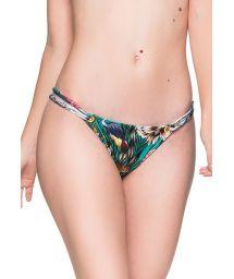 Grön blommönstrad bikininederdel med dubbla band i sidorna - BOTTOM FIXO TROPICAL GARDEN