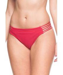 Drak pink strappy side bikini bottom - BOTTOM GOIABA VERMELHA