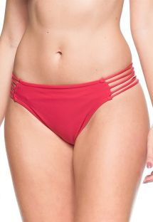 Drak pink strappy side bikini bottom - BOTTOM GOIABA VERMELHA