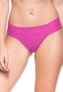 Плавки розового цвета со складками на широких боках - BOTTOM ILHAS RASAS