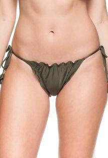 Khaki tie scrunch bikini bottom - BOTTOM IRIS VERDE