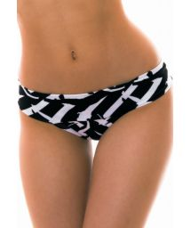 Black & white bikini bottom large side - BOTTOM LAGO MICHIGAN