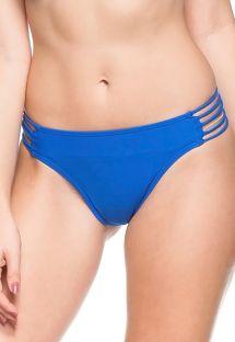 Cueca brasileira azul de fitas múltiplas - BOTTOM LIRIOS AZUIS