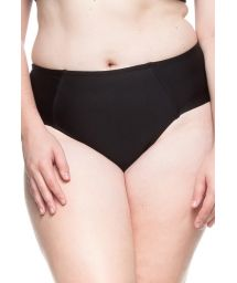 Plus-size black larger side bikini bottom - BOTTOM LITORAL DA BAHIA