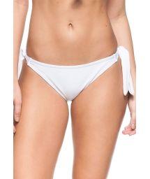 White side-tie Brazilian bikini bottom - BOTTOM LUZ DA MANHA