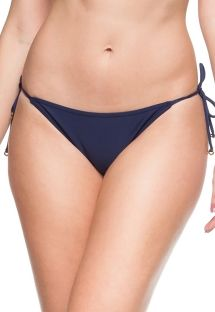 Navy blue side tie Brazilian bikini bottom - BOTTOM MAHO BEACH