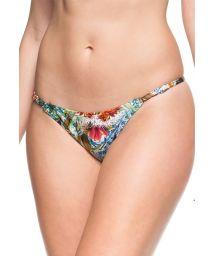Printed adjustable string bikini bottom - BOTTOM MAR SEM FIM