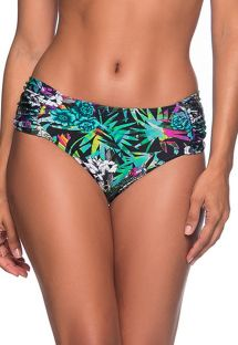 Colorful floral tab side bikini bottom - BOTTOM NO ATALAIA