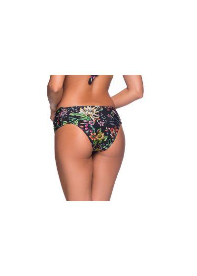 Floral black larger side bikini bottom - BOTTOM NO DREAM