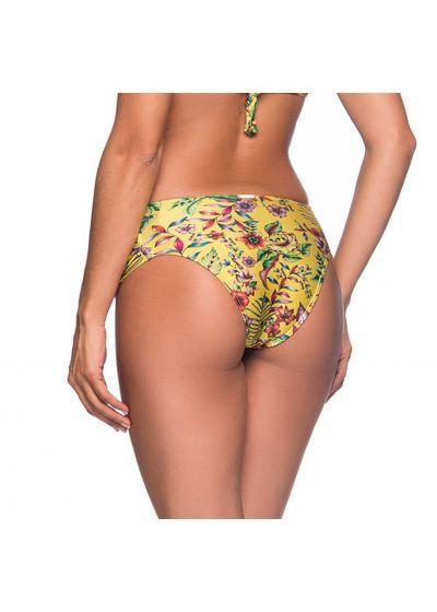 Yellow floral larger side bikini bottom - BOTTOM NO DREAM AMARELA