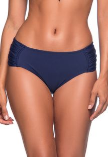 Navy blue tab side bikini bottom - BOTTOM NO MIRAMAR