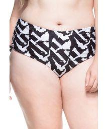 Plus-size black & white bikini bottom - BOTTOM NORDESTE