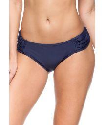 Navy blue pleated bikini bottom - BOTTOM NOVA ZELANDIA