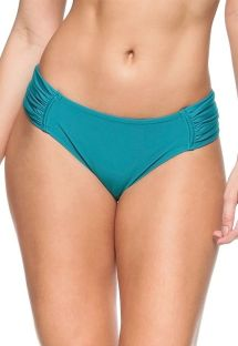Blue larger side pleated bikini bottom - BOTTOM NOZ