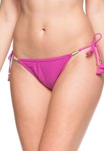 Rosa Bikini-Unterteil mit Pom Poms - BOTTOM OESTE DA PRAIA