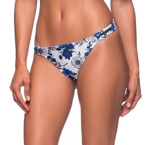 d726f4cbafa Floral blue scrunch bikini bottom with zig zag detail - BOTTOM OMBRO ATOBA