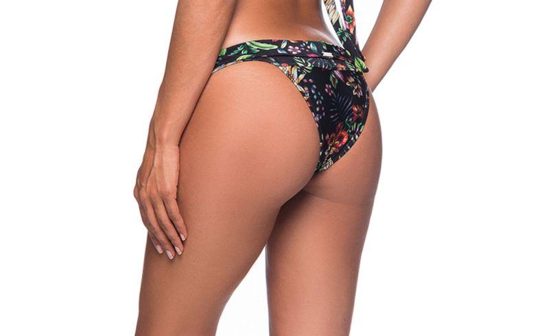Geblümte Bikinihose, orangene Schmucksteine - BOTTOM PEDRA DREAM